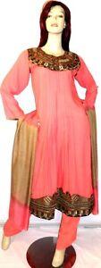 8 Vk Kameez Salwar Eid Abaya Suit Peach Pakistaanse ontwerper Shalwar Sari Hijab PwqH1R1xv