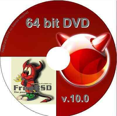 FreeBSD Unix Operating System, 64 bit DVD Free BSD alternative O/S version 11
