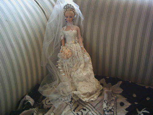 Matrimonio-elegante-BARBIE Austria  design PEZZO UNICO-Top-condizioni-guarda - WEDDING  outlet