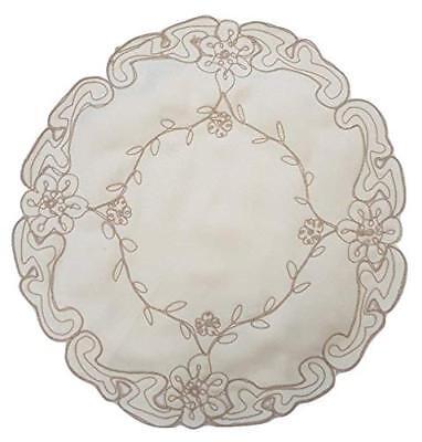 """Di Larghe Vedute Victorian Vintage Ricamati Crema Round In Raso Doily Luogo Opaco 6"""" 8"""" E 12""""-"""