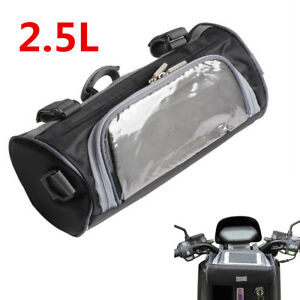 Details About Universal 2 5l Motorcycle Windshield Bag Front Handlebar Fork Storage Container
