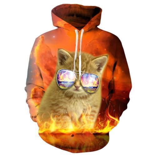 Fashion Animals 3D Graphics Print Hoodie Unisex Sweatshirt Pullover Jumper Tops