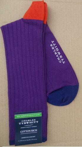 11-13 Charles Tyrwhitt  Mens Fine  Cotton Rib Socks Brand New Size L