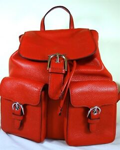 a992e2574c42 Image is loading Michael-Michael-Kors-Cooper-Flap-Large-Red-Leather-