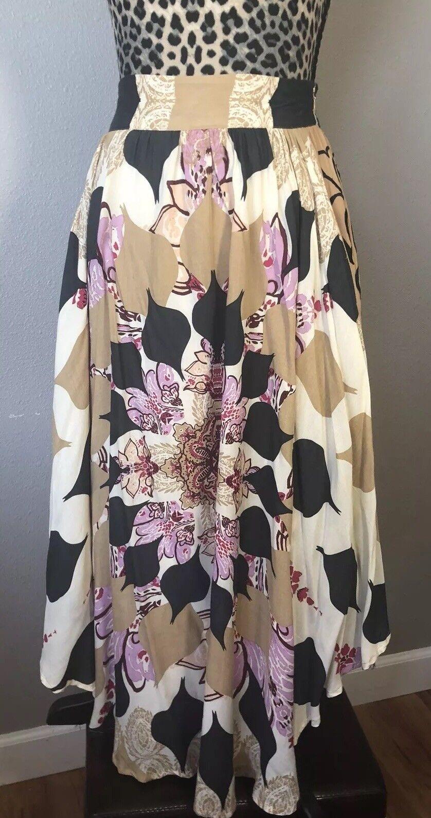 Free People Side Cutout Midi Skirt Size 4