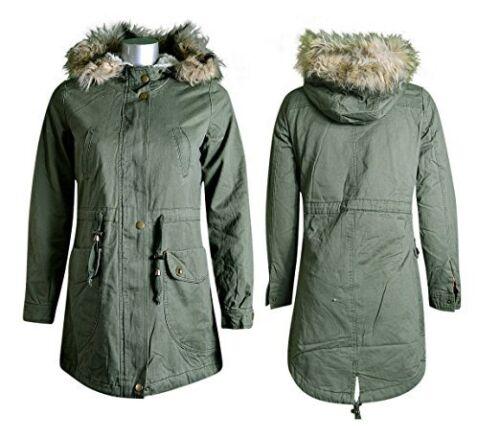 piel ajuste caqui mujeres de seoras de chaqueta invierno del de de de de chaqueta Chaqueta las las color la del larga larga Parka del estilo la xTgxRw8
