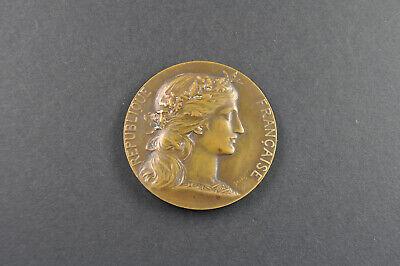 Verantwortlich Republique Francaise Antike Medaillie Bronze Preparation Militaire De La Guerre Lassen Sie Unsere Waren In Die Welt Gehen