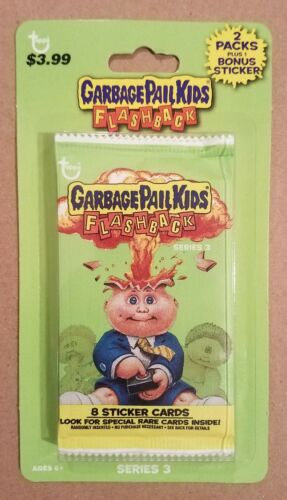 Garbage Pail Kids Flashback Series 3 Blister Pack FACTORY SEALED!