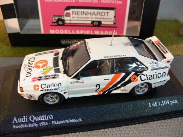 1 43 Minichamps Audi Quattro Sweden rally 1984 Eklund Whitlock