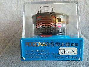 Vintage Rodenstock Rogonar-S 1:2.8 f = 50mm Lens with original case. excellent
