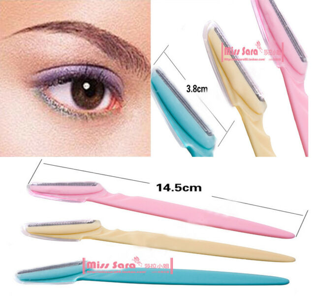 3pcs Women's Makeup Facial Tool Eyebrow Lip Razor Trimmer Blade Shaver Knife
