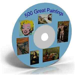500-Great-Paintings-Famous-Artists-Old-Images-Craft-CD