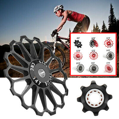 1//5X Mountain Bike Bicycles Cycling Rear Derailleur Guide Roller Jockey WheeWDS