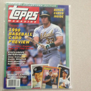 Details About Topps Magazine 1 Winter 1990 Premier Issue Complete With Cards Nm Baseball