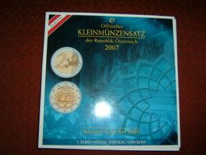 Euro Münzsatz Österreich 1 cent bis 2 €, 2007 - Sangerhausen, Deutschland - Euro Münzsatz Österreich 1 cent bis 2 €, 2007 - Sangerhausen, Deutschland