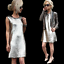 ZARA-Metallic-Silver-Sequinned-Party-Midi-Dress-Woman-Authentic-BNWT-M-0787-225 thumbnail 8