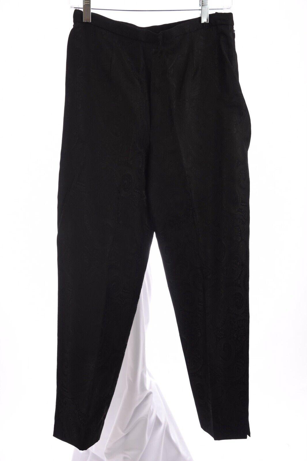 Jones York país para Mujer Vestido Jacquard New  Pantalones Impresión Negro Talla 8 medio  marcas de moda