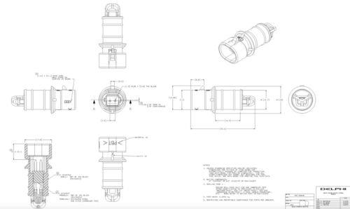 Delphi GM Air Charge Temperature Sensor Part# ACDelco  Equipment 213-243