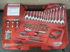 Craftsman 56 Piece pc Universal Mechanics Tool Set Socket Wrench 924964