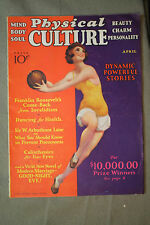 vtg old PHYSICAL CULTURE Magazine fitness exercise body building fashion 1932 ap