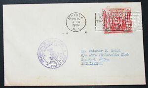 Commonwealth-of-the-Philippines-Cover-Manila-FDC-Quezon-Letter-H-8562