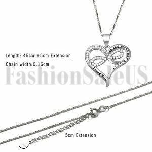 034-I-Love-You-to-the-moon-and-back-034-Women-039-s-Infinity-Love-Heart-Pendant-Necklace