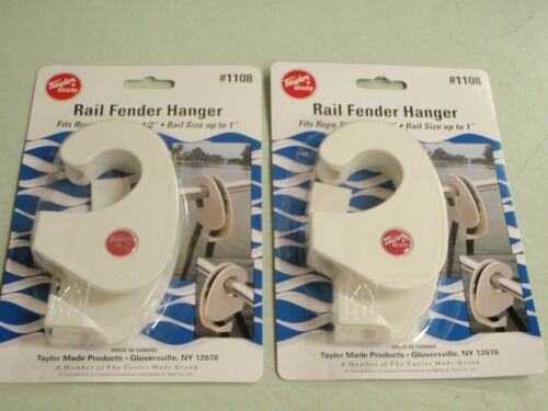 RAIL FENDER HANGERS PAIR TAYLOR MADE 32 1108 BOAT MARINE HARDWARE BRACKETS