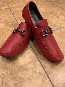 ancla col china Perfecto  SALVATORE FERRAGAMO 'Parigi' Moccasin Loafer, Red, Size 13 D $595 Retail    eBay