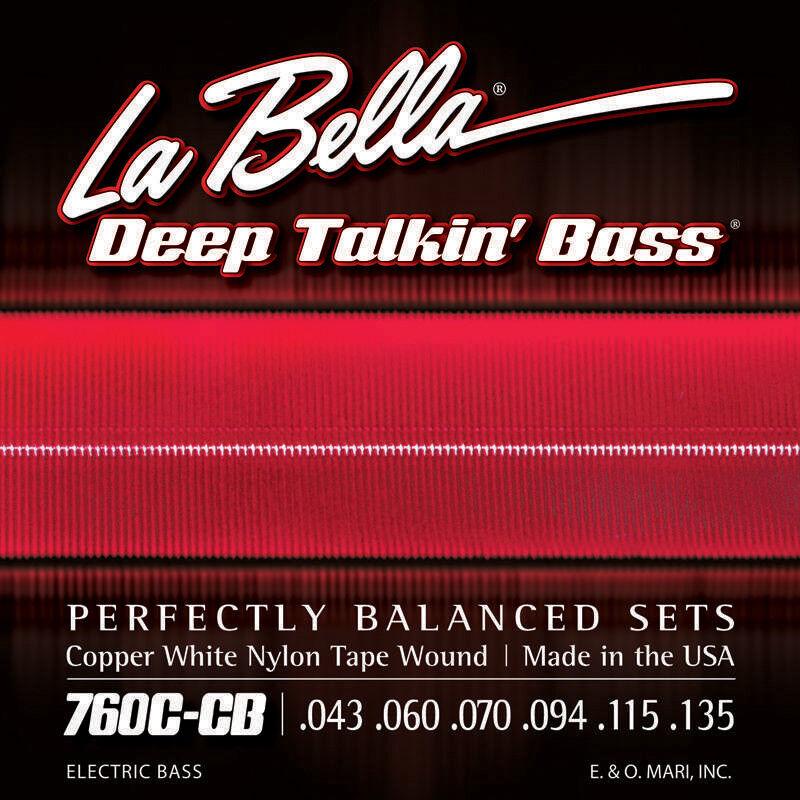 La Bella Bella Bella 760C-CB profundo Talkin cinta de nylon blancoo 'bajo de cobre herida bajo guitarra Str  Mercancía de alta calidad y servicio conveniente y honesto.
