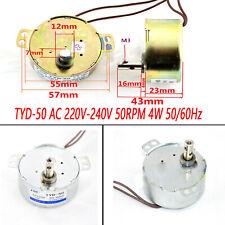 For Tyd 50 Ac 220v 240v 50rpm 4w 5060hz Shaft Dia Fan Synchronous Motor Parts