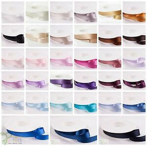 CUT-SHINDO-SATIN-Highest-Best-Quality-Double-Sided-Ribbon-Crafts-Various-Colours