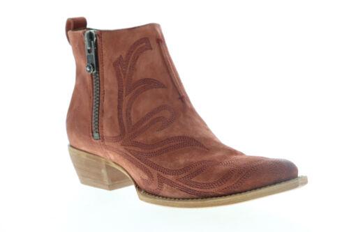 Frye Sacha Primrose Shortie 70575 Womens Brown Suede Zipper Booties Boots