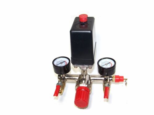 Automatic Pressure Switch Manifold Regulator Gauges Valves for Air Compressor