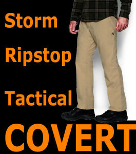MENS-UNDER-ARMOUR-TACTICAL-STORM-COVERT-CARGO-PANTS-BROWN-RIPSTOP-1262480