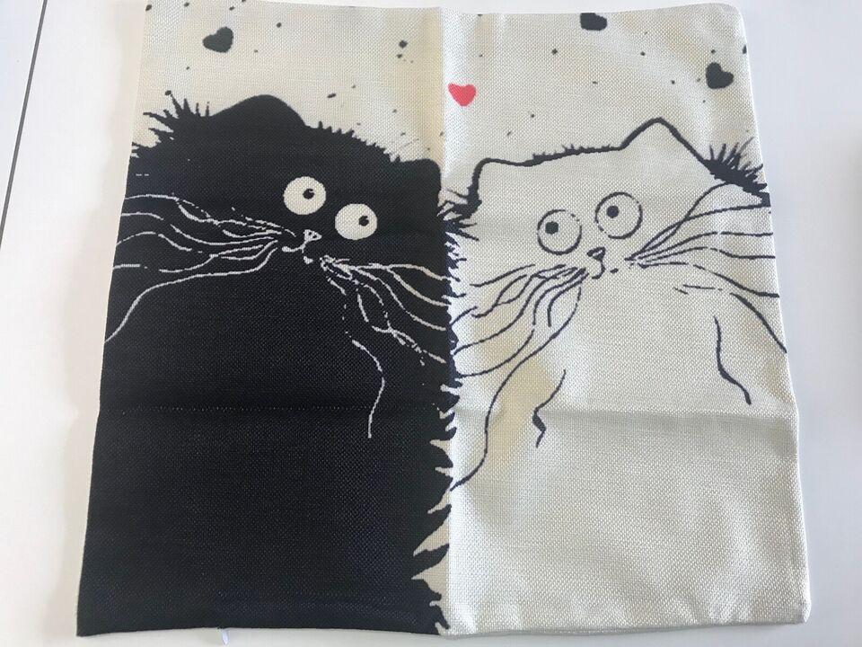 NYT betræk til sofapude med katte