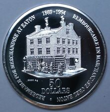 CANADIAN GEM 1869-1994 - 50 DOLLARS - Timothy Eaton - .9999 SILVER - Nice