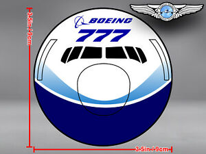 BOEING-777-B777-DREAMLINER-LIVERY-FRONT-VIEW-ROUND-DECAL-STICKER