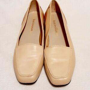 Enzo Angiolini Womens Liberty  Sz 8.5 M Tan  Leather Slip On Loafer Flats