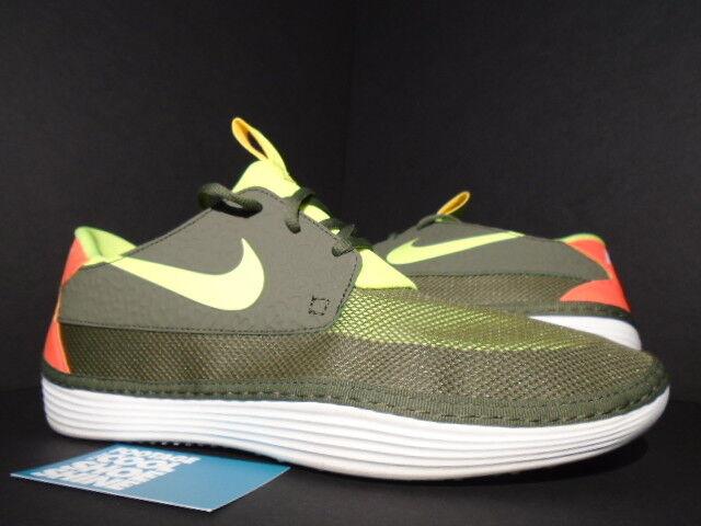 2013 Nike SOLARSOFT MOCCASIN MOC TARP Grün VOLT CRIMSON rot Weiß 555301-336 11