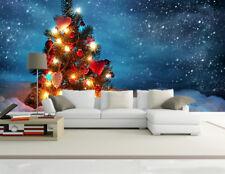 Papel Pintado Mural Vellón Brillante Arbol De Navidad 3 Paisaje Fondo Pantalla
