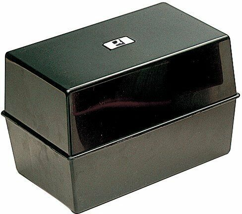 Q-Connect Black Card Index Box 5x3 Inches KF10001