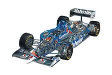 1994 FORD LOLA T94 FORMULA 1 F1 RACE CAR CUTAWAY POSTER PRINT 24x36 HI RES