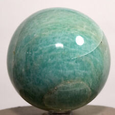 "2.6"" Green Blue Amazonite Sphere Natural Crystal Ball Feldspar Mineral - India"