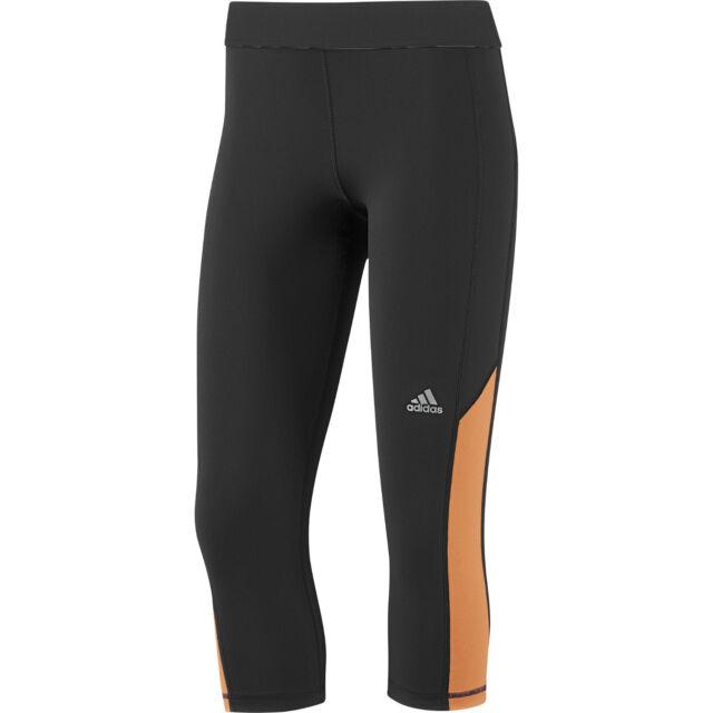 df04e65a222e New Womens Ladies Adidas 3 4 Capri Running Leggings Jogging Gym Bottoms -  Black