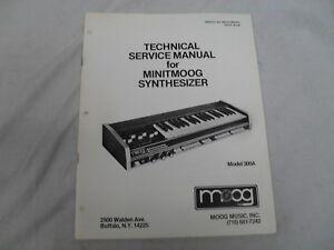 Moog-Minitmoog-Service-Manual-Used-But-In-Good-Condition