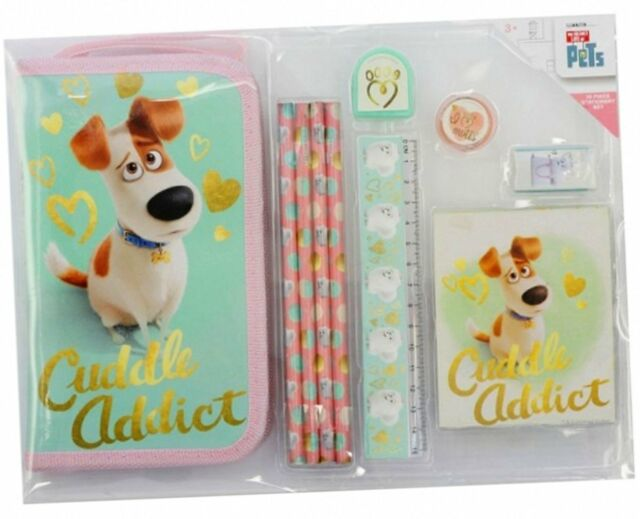 Secret Life of Pets Girls 10 Piece School Stationery Set 3+ Brand New & Sealed