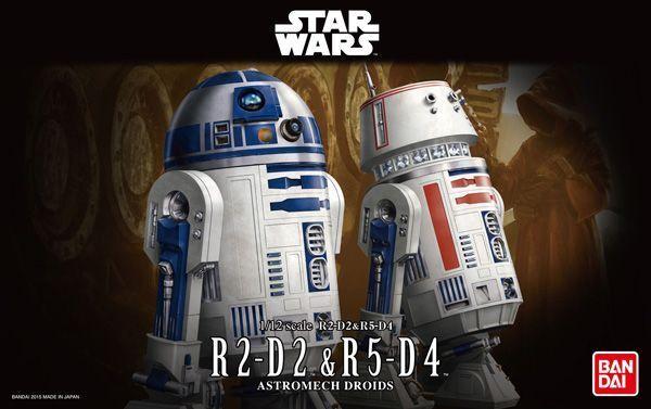 Stern Wars  R2-D2 & R5-D4 1 12 Modell Kit