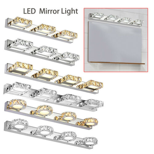Bathroom LED Crystal Front Make-up Light Toilet Wall Lamp Fixtures Vanity Light