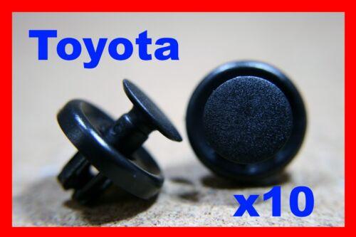 Pour Toyota 10 Pare-chocs Fascia Trim Panneau Garniture Capot PUSH Clip Fastener