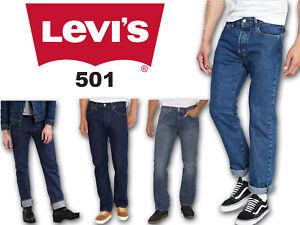 Levis-501-Jeans-For-Men-Slim-Fit-Grade-B-Denim-Pants-Trousers-Bottom